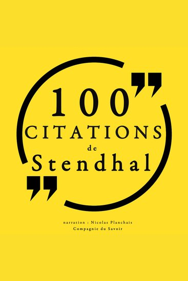 100 citations de Stendhal - cover
