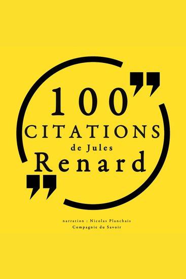 100 citations de Jules Renard - cover
