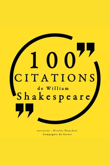100 citations de William Shakespeare - cover
