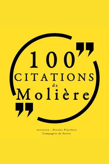 100 citations de Molière - cover