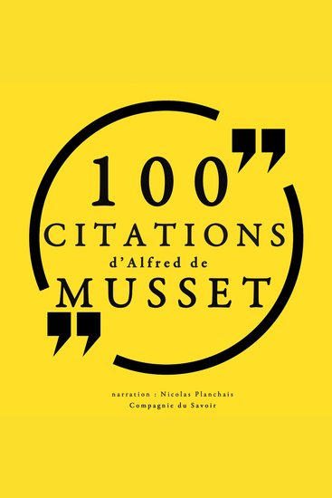 100 citations d'Alfred de Musset - cover