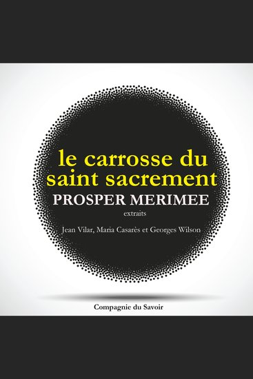 Le Carrosse du Saint Sacrement de Prosper Mérimée - cover