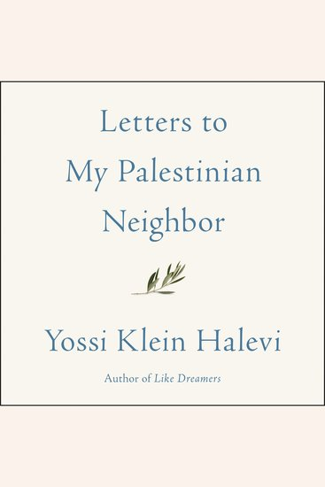 Letters to My Palestinian Neighbor - cover