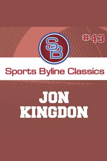 Sports Byline: Jon Kingdon - cover