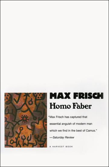 Homo Faber - cover