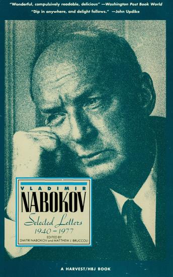 Vladimir Nabokov - Selected Letters: 1940–1977 - cover