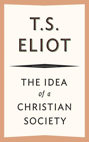 The Idea of a Christian Society - cover