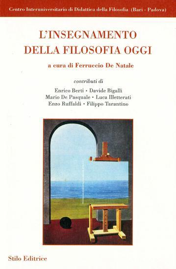 L'insegnamento della filosofia oggi - cover
