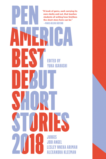 PEN America Best Debut Short Stories 2018 - cover