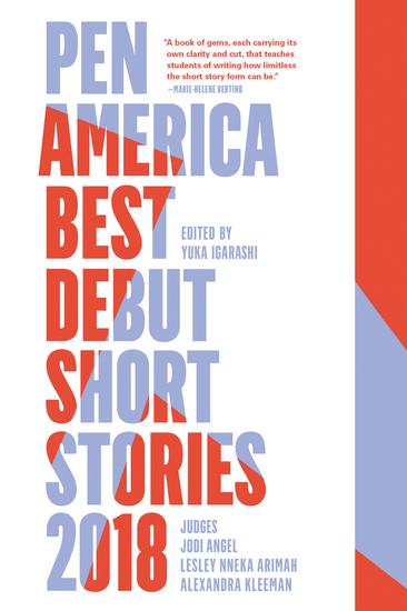 PEN America Best Debut Short Stories 2018 - cover