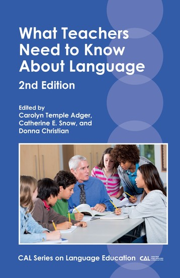 What Teachers Need to Know About Language - cover