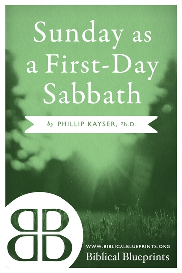 Sunday as a First-Day Sabbath - cover