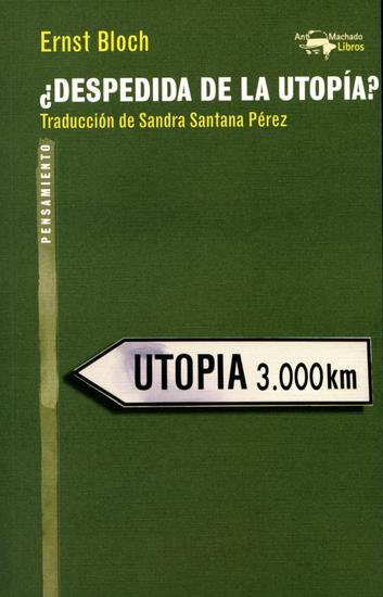 ¿Despedida de la utopía? - cover