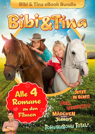 Bibi & Tina - Alle 4 Bücher zu den Kinofilmen - Roman - cover