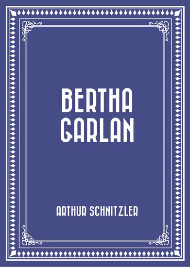 Bertha Garlan - cover