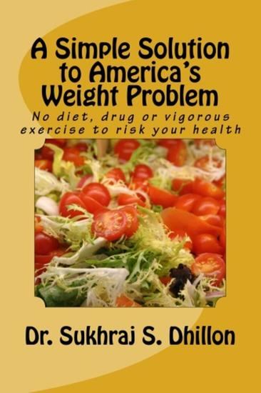 A Simple Solution to America's Weight Problem - Health & Spiritual Series - cover