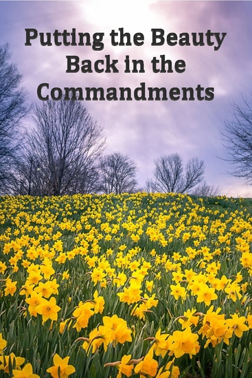 Putting the Beauty Back in the Commandments - cover