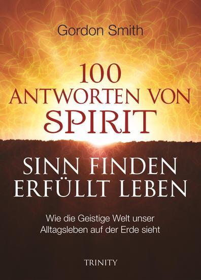 100 ANTWORTEN VON SPIRIT: SINN FINDEN ERFÜLLT LEBEN - Wie die Geistige Welt unser Alltagsleben auf der Erde sieht - cover