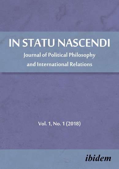 In Statu Nascendi - Journal of Political Philosophy and International Relations 2018 1 - cover