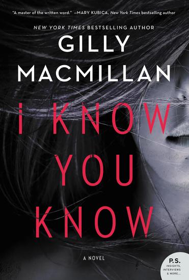 I Know You Know - A Novel - cover