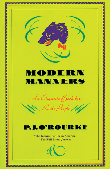 Modern Manners - An Etiquette Book for Rude People - cover