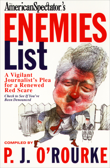 The American Spectator's Enemies List - A Vigilant Journalist's Plea for a Renewed Red Scare - cover
