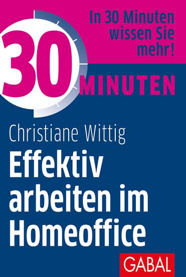 30 Minuten Effektiv arbeiten im Homeoffice - cover
