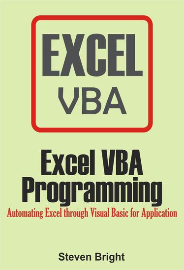 Excel VBA Programming: Automating Excel through Visual Basic for Application - cover