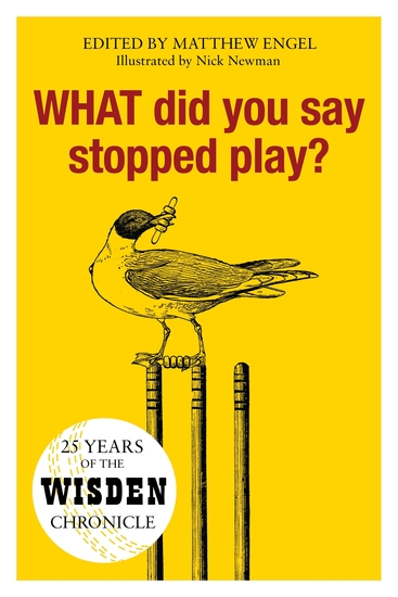 WHAT Did You Say Stopped Play? - 25 Years of the Wisden Chronicle - cover