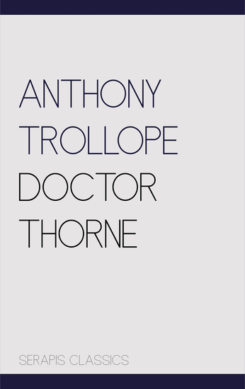 Doctor Thorne - cover