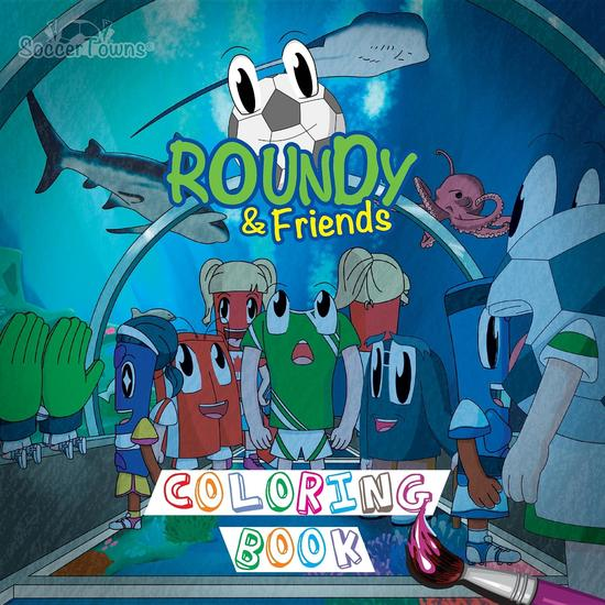 Roundy & Friends Coloring Book - cover