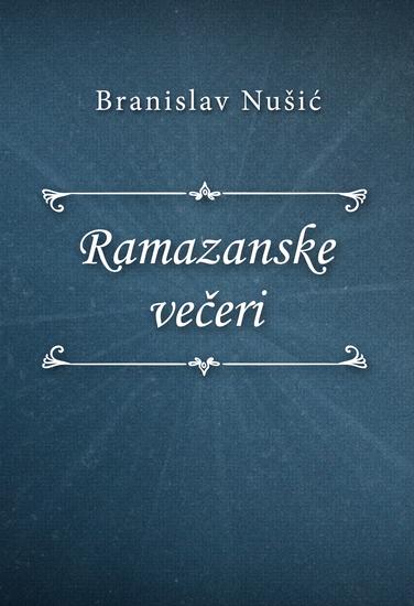 Ramazanske večeri - cover