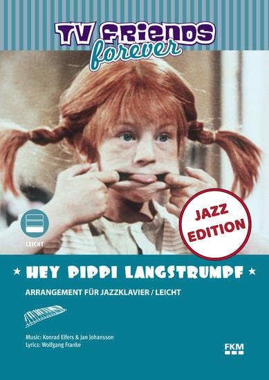 Hey Pippi Langstrumpf - Arrangiert für Jazzklavier Leicht - cover