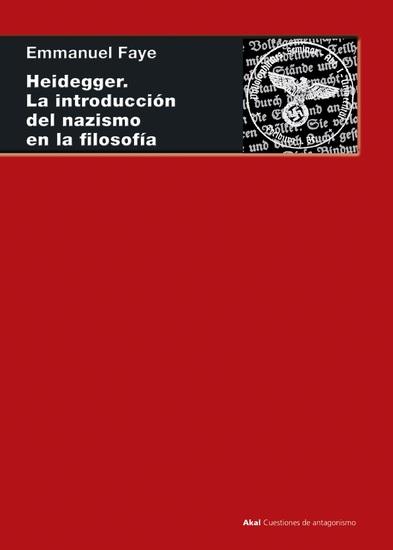 Heidegger La introducción del nazismo en filosofía - En torno a los cursos y seminarios de 1933-1935 - cover