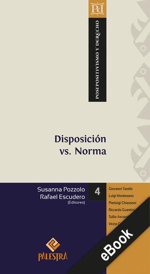 Disposición vs Norma - cover