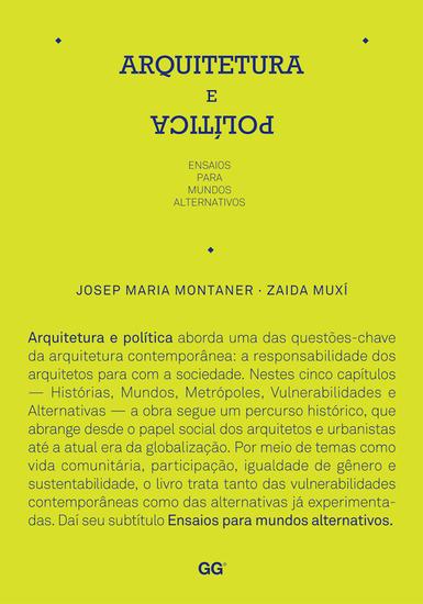 Arquitetura e política - Ensaios para mundos alternativos - cover