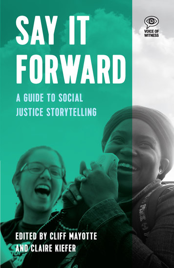 Say it Forward - A Guide to Social Justice Storytelling - cover