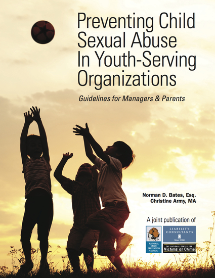 Preventing Child Sexual Abuse In Youth-Serving Organizations - cover