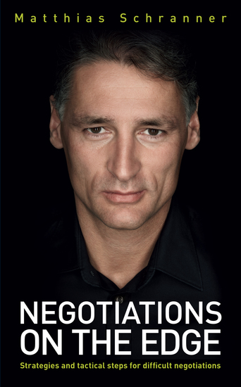 Negotiations on the Edge - Strategies and tactical steps for difficult negotiations - cover