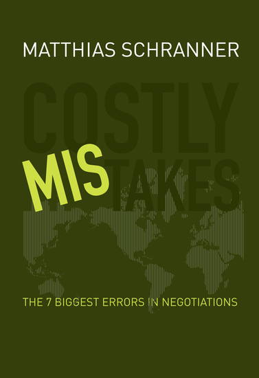 Costly Mistakes - The 7 biggest errors in negotiations - cover
