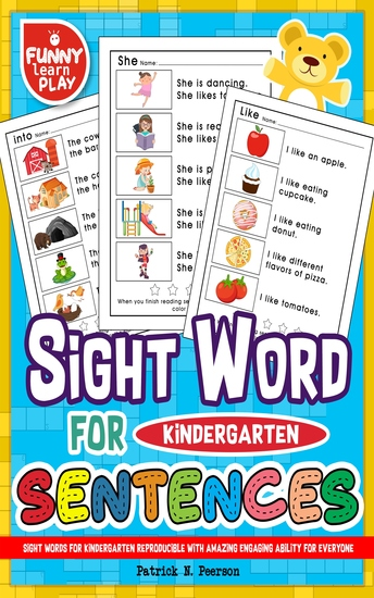 First 100 Sight Words - For Amazing Practice & Efficiency 100 Sight Words Kindergarten with Amazing Riddles & Games - cover