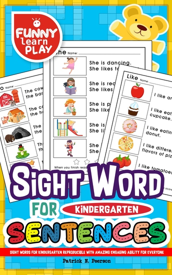 Sight Words for Kindergarten - Reproducible with Amazing Engaging Ability for Everyone - Sight Words Kindergarten Ideal for Recognizing & Learning Trends for Kids - cover