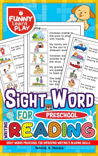 Sight Words Preschool - Improving Writing & Reading Skills - Sight Word Books for pre-k Along With Cleaning Pen & Flash Cards - cover