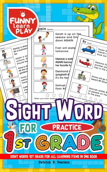 Sight Words 1st Grade - For All Learning Items in One Book - Sight Words Grade 1 for Easing Up Learning for Kids & Students - cover