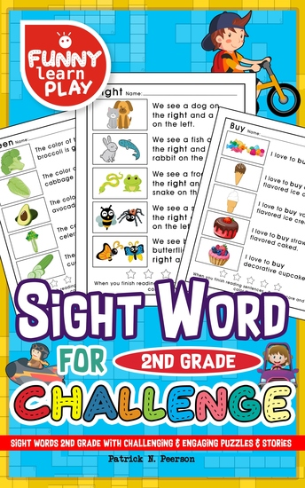 Sight Words 2nd Grade - With Challenging & Engaging Puzzles & Stories - Sight Words Grade 2 For Sophisticated & Updated Lessons - cover