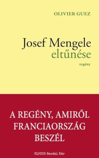 Josef Mengele eltűnése - cover