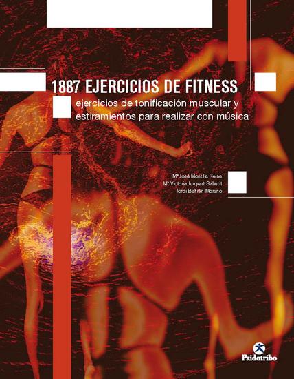 1887 ejercicios de fitness - Ejercicios de tonificación muscular y estiramiento - cover