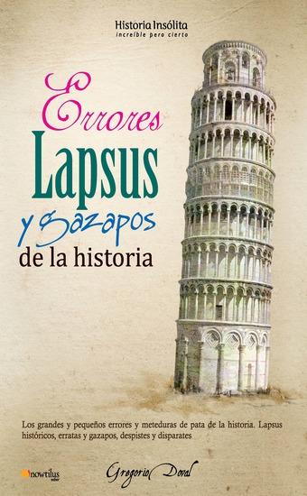 Errores lapsus y gazapos de la historia - cover