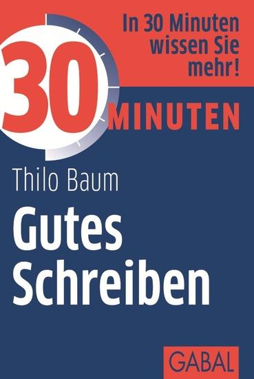 30 Minuten Gutes Schreiben - cover