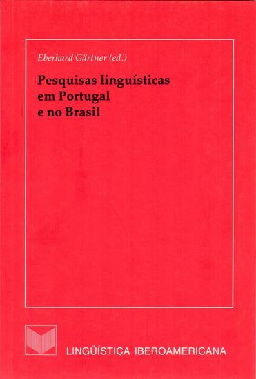 Pesquisas linguísticas em Portugal e no Brasil - cover
